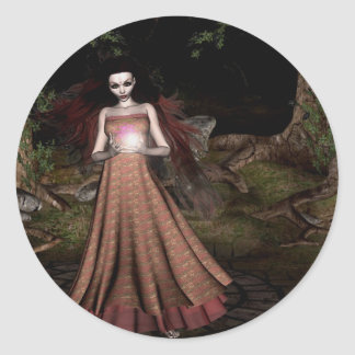 Gothic Girls Forest Magic sticker