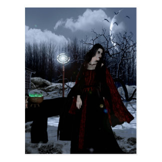 Gothic Girls Gypsy Magic fantasy postcard