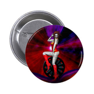Gothic Girls Her Own Private Hell Pinback Button