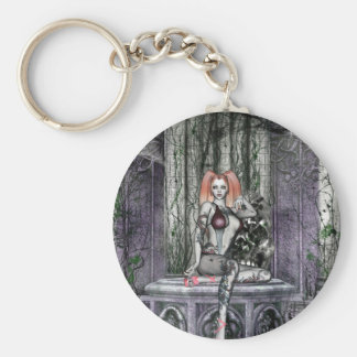 Gothic Girls Her Time Will Come Again Keychain