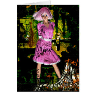 Gothic Girls Hot Off The Press grunge fantasy Card