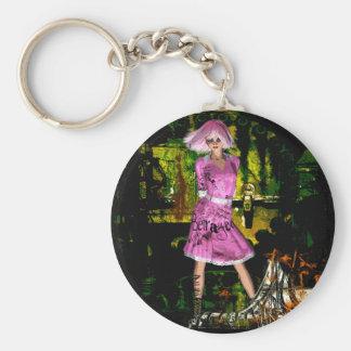 Gothic Girls Hot Off The Press grunge fantasy Keychain
