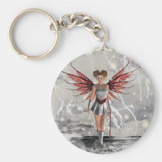 Gothic Girls Last Angel Standing Keychain