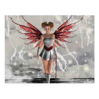 Gothic Girls Last Angel Standing Postcard