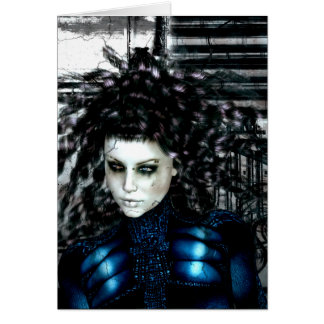 Gothic Girls Left Behind Sci-Fi Greeting Cards
