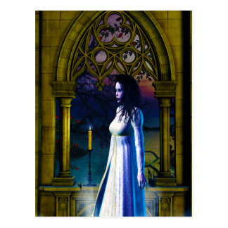 Gothic Girls Missing You Postcard