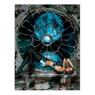 Gothic Girls Moonlight Revelry postcard