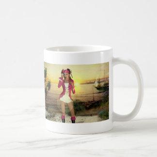 Gothic Girls Pirate Sundown Classic White Coffee Mug