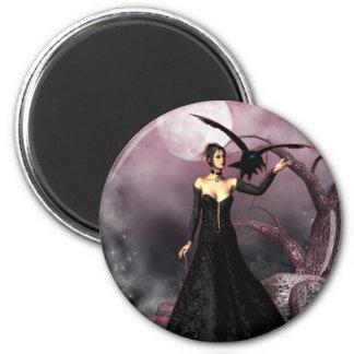 Gothic Girls Red Witch fantasy magnet