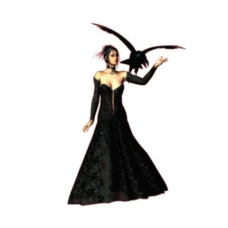 Gothic Girls Red Witch fantasy t-shirt shirt