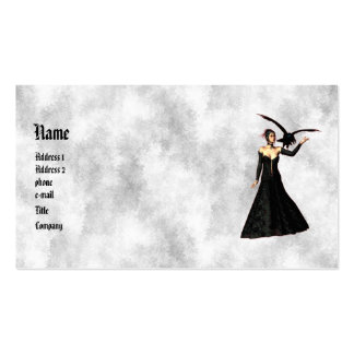 Gothic Girls : Red Witch Profile Card Business Card