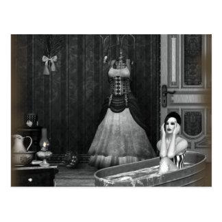 Gothic Girls Regret Steampunk Postcard