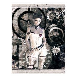 Gothic Girls Steampunk At Heart Postcard