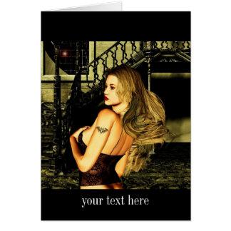 Gothic Girls Sunrise Fantasy art Card
