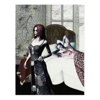 Gothic Girls Thanks For The Memories Postcard