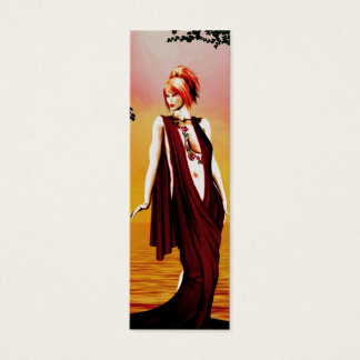 Gothic Girls The Red Dress Bookmark card