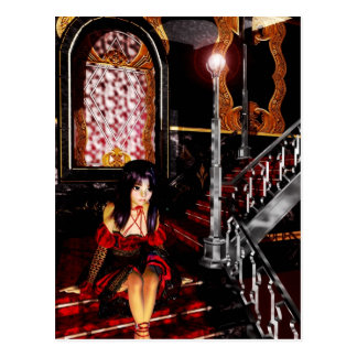Gothic Girls The Stairs postcard
