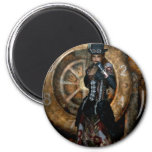 Gothic Girls Time To Spare Steampunk Refrigerator Magnets