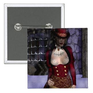 Gothic Girls Victorian Winter button