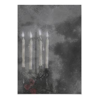 Gothic Glow Candle Light Roses Wedding set Custom Invitation