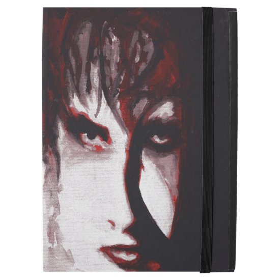 "Gothic God Post Punk Goth Music Man Portrait Art iPad Pro 12.9"" Case"