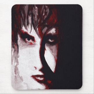 Gothic God Post Punk Goth Music Man Portrait Art Mouse Pad