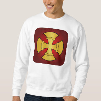 Gothic Gold and Red Cross Sweatshirt