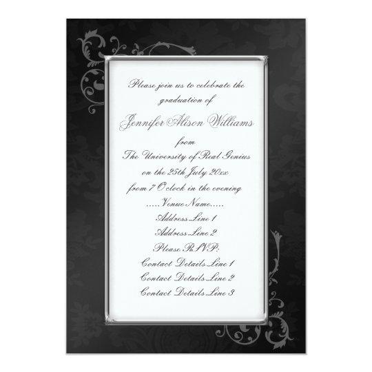 Gothic graduation invitation in black white zazzle gothic graduation invitation in black white filmwisefo Choice Image