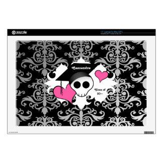 Gothic graduation skull laptop decal
