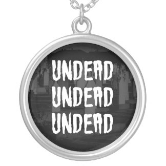 Gothic Graveyard UNDEAD Sterling Silver Necklace