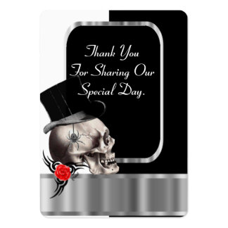 Gothic groom black wedding favor thank you tag large business card