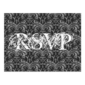 Gothic Grunge All Occassion RSVP Response Postcard