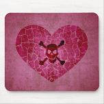 Gothic Grunge Broken Heart Mouse Mats