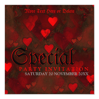 Gothic Grunge Passion Special Party Invitation