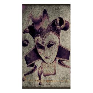 gothic grunge renaissance  joker vintage business card