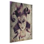 gothic grunge renaissance  joker vintage gallery wrapped canvas