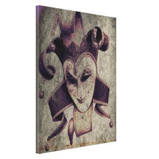 gothic grunge renaissance  joker vintage canvas print