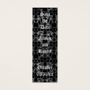 Gothic mini business cards templates zazzle gothic grunge save the date mini book markers mini business card reheart Images