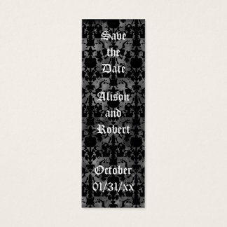 Gothic grunge save the date mini book markers mini business card