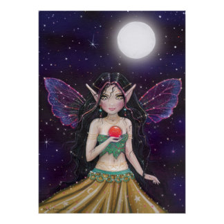 Gothic Gypsy Fairy Poster by Molly Harrison