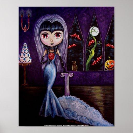 Gothic Halloween Bride Poster