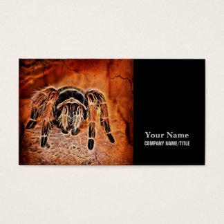 Gothic Halloween creepy crawlies spider Tarantula Business Card