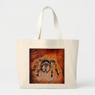 Gothic Halloween creepy crawlies spider Tarantula Large Tote Bag