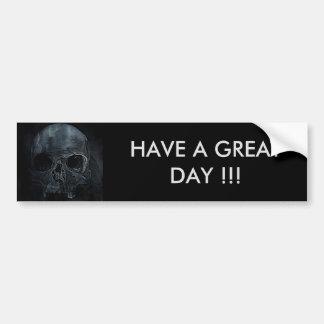 Gothic halloween medical skeleton bone Xray Skull Bumper Sticker