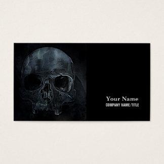 Gothic halloween medical skeleton bone Xray Skull Business Card