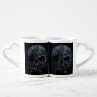 Gothic halloween medical skeleton bone Xray Skull Coffee Mug Set