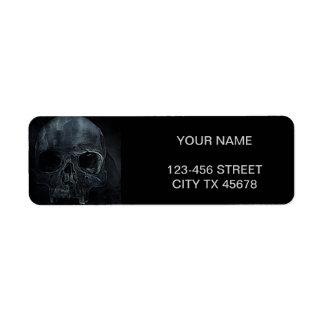 Gothic halloween medical skeleton bone Xray Skull Label