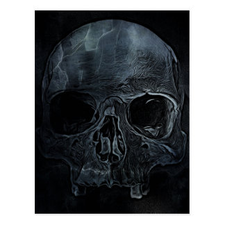 Gothic halloween medical skeleton bone Xray Skull Postcard