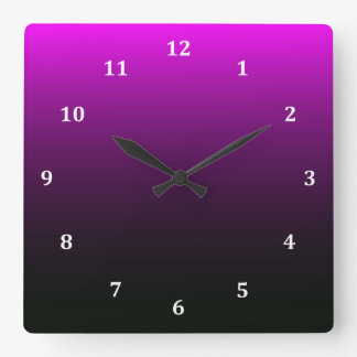 Gothic Halloween Midnight Square Wall Clock