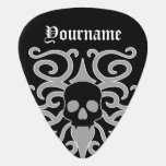 Gothic Halloween skull black and gray personalized Guitar Pick